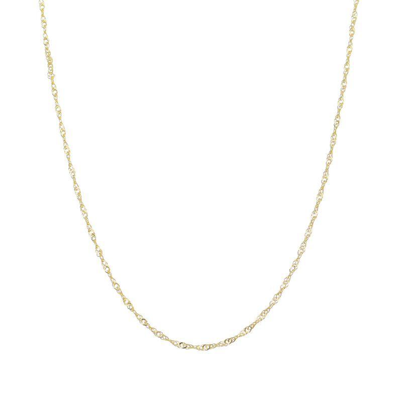 Corrente Elo Singapura 40 cm Folheada em Ouro 18k - Giro Semijoias