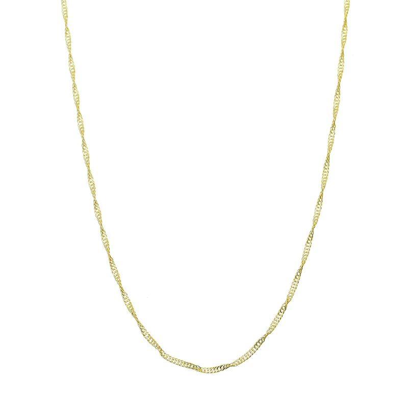 Corrente Elo Singapura 45cm Folheada em Ouro 18k - Giro Semijoias