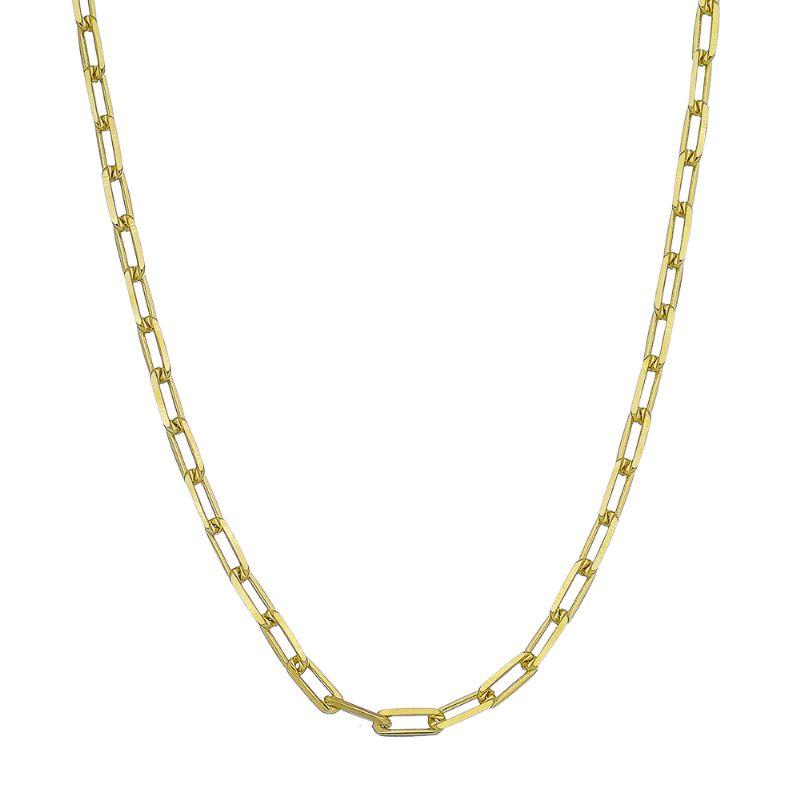 Corrente Retran 45cm Elos Quadrados Ouro 18k