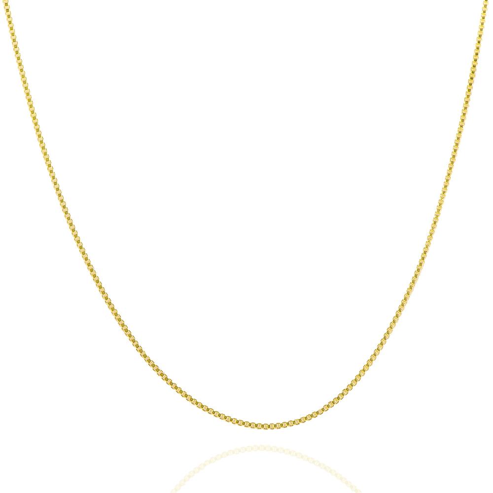 Corrente Veneziana Fina 80cm Folheada em Ouro 18k