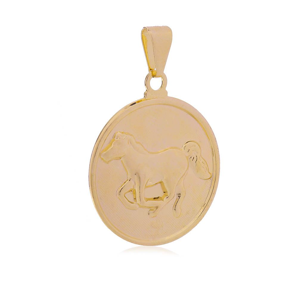 Pingente Cavalo Banho Ouro 18k - Giro Semijoias