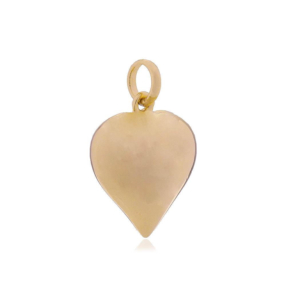 Pingente Coração Banho Ouro 18k
