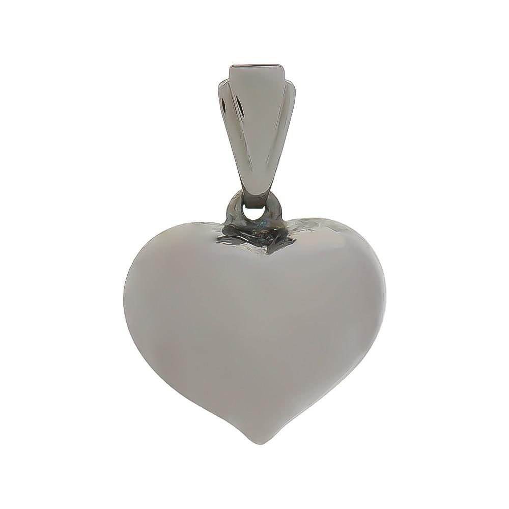 Pingente Coração Liso G Folheado em Ródio Negro - Giro Semijoias