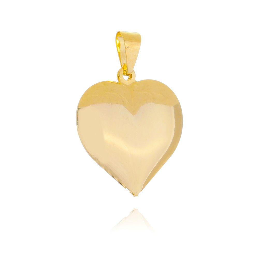 Pingente Coração Liso Ouro 18k - Giro Semijoias