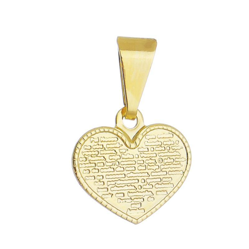 Pingente Coração Pais Nossa P Ouro 18k