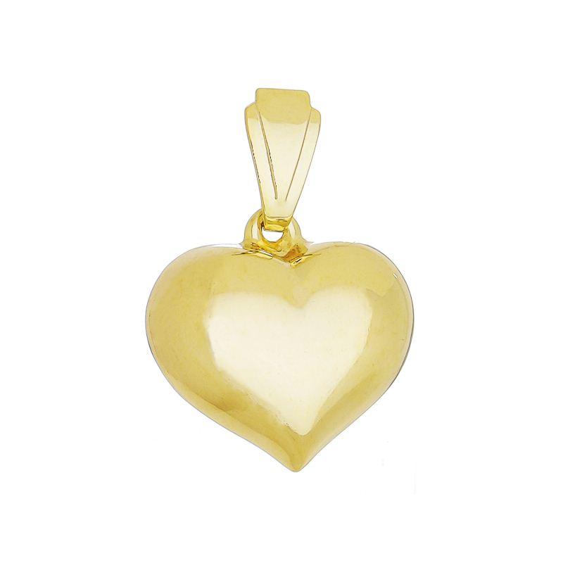 Pingente de Coração Folheado em Ouro 18k