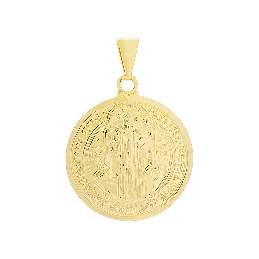 Pingente São Bento G Folheado em Ouro 18k - Giro Semijoias