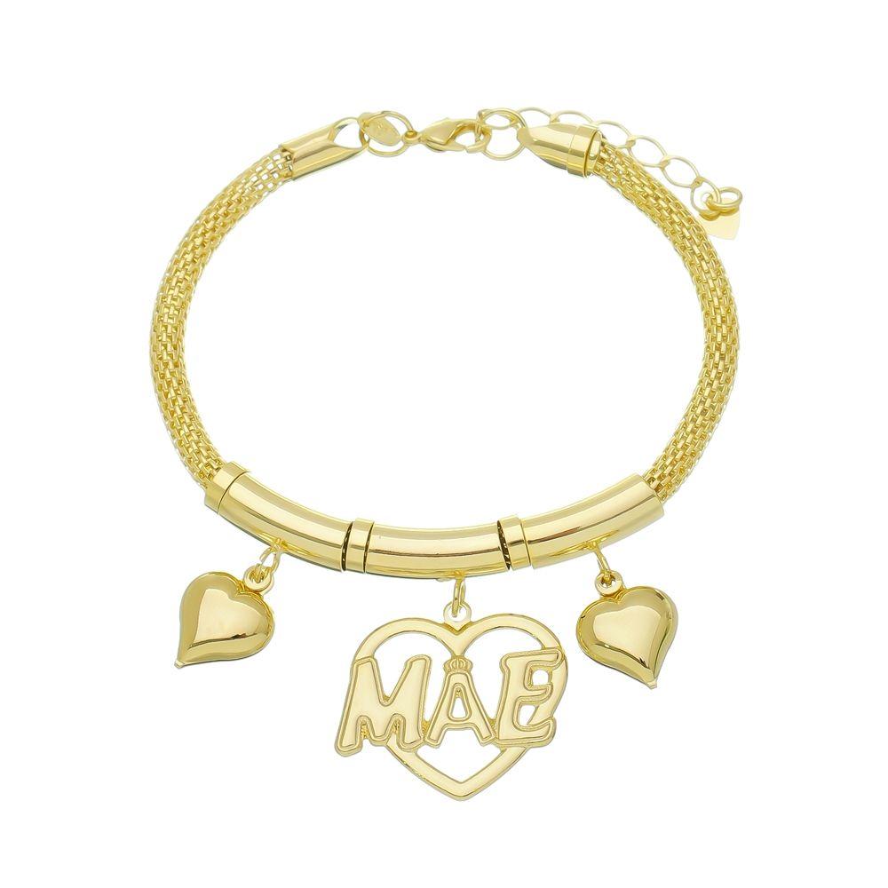 Pulseira Berloque Mãe Ouro 18k-Giro Semijoias