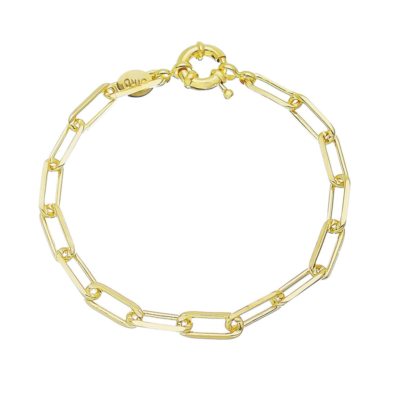 Pulseira Elos Cartier Grossa Folheado em Ouro 18k - Giro Semijoias