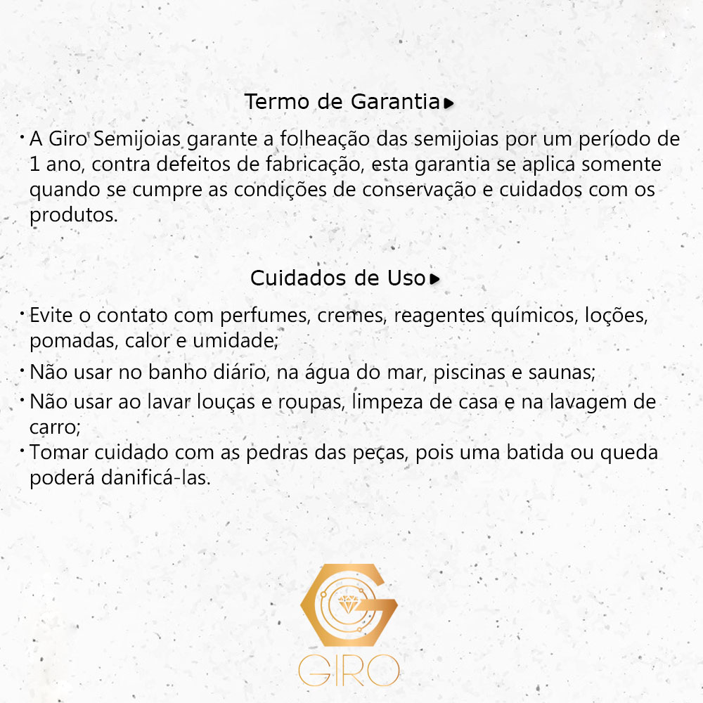 Tornozeleira Corações com Zircônia Ouro18k - Giro Semijoias