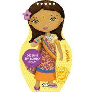 Desenhe sua boneca indiana