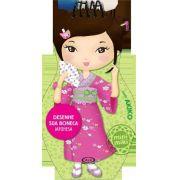 Desenhe sua boneca japonesa