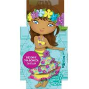 Desenhe sua boneca tahitiana