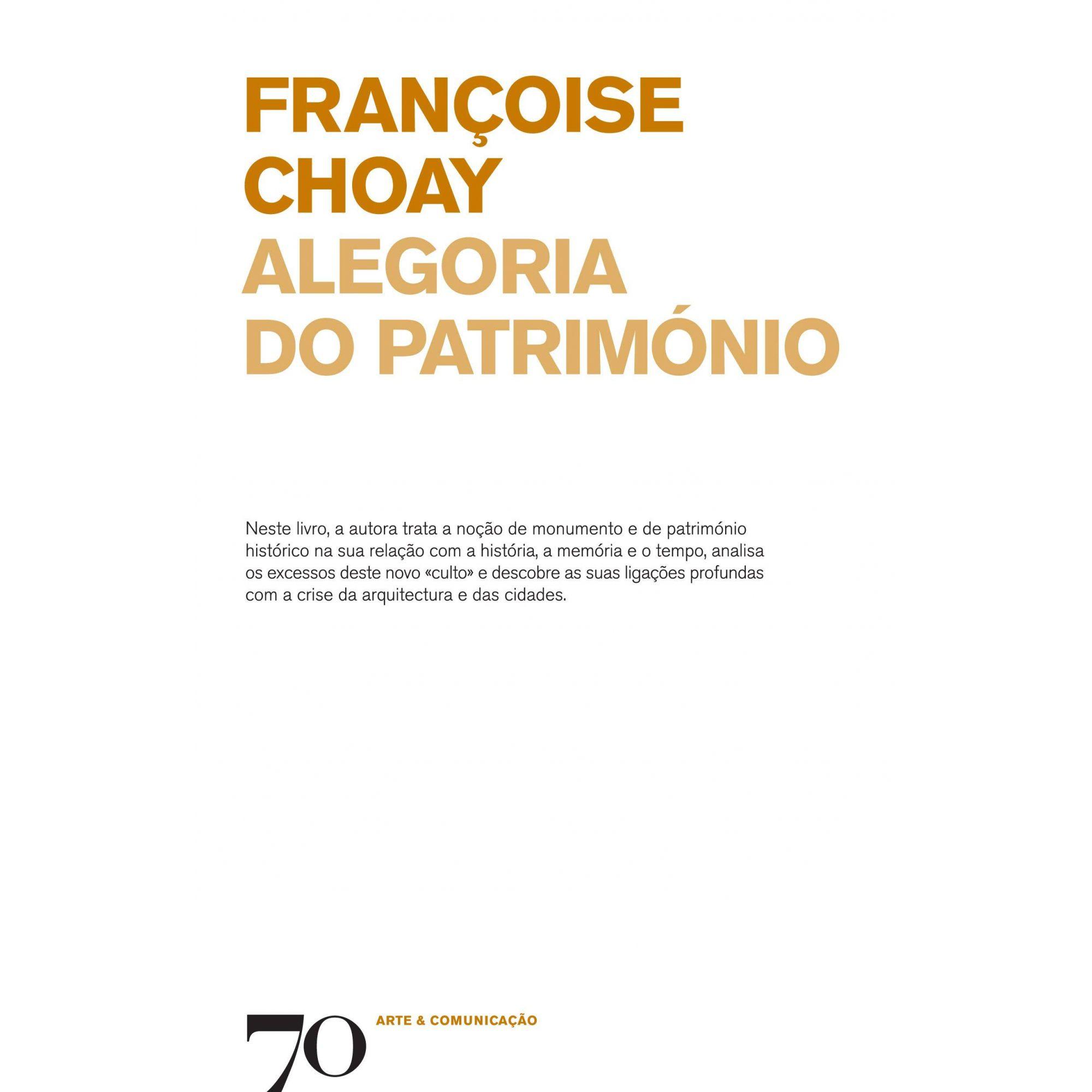 ALEGORIA DO PATRIMONIO - 9789724412740