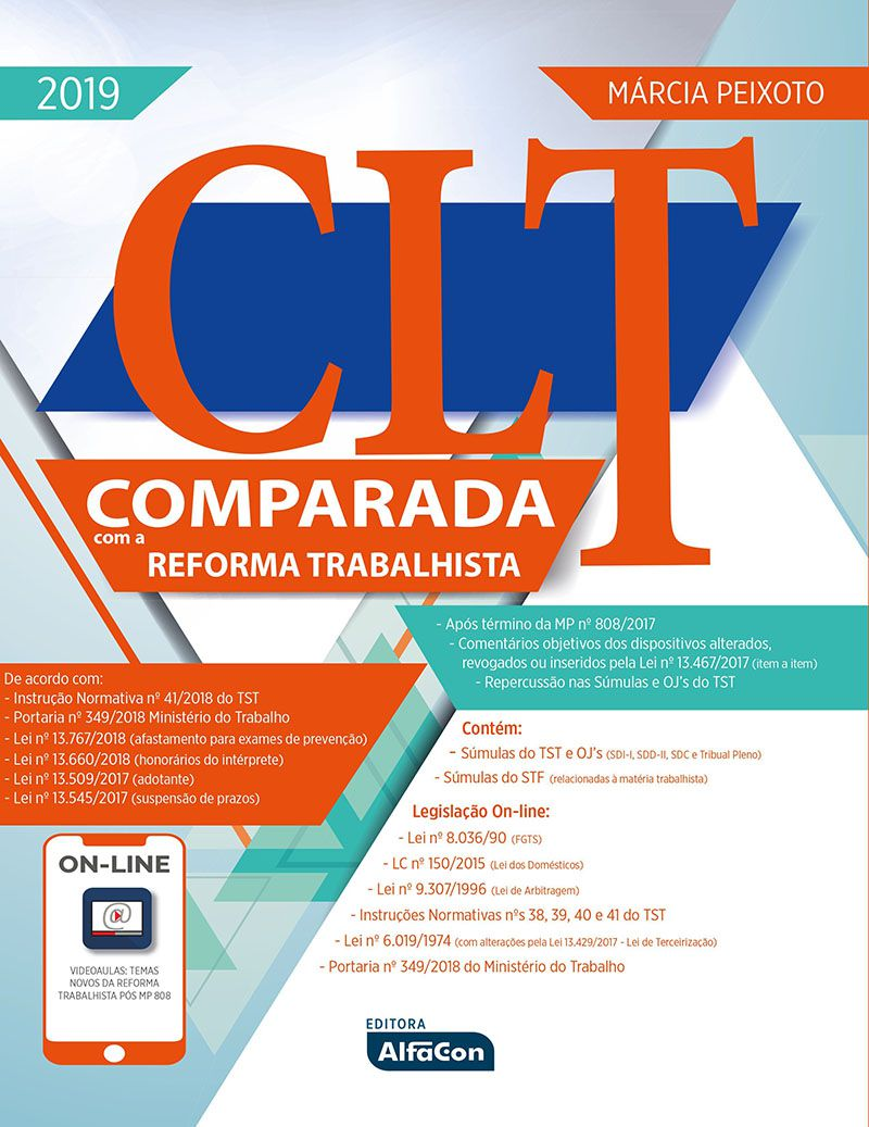 CLT comparada com a reforma trabalhista