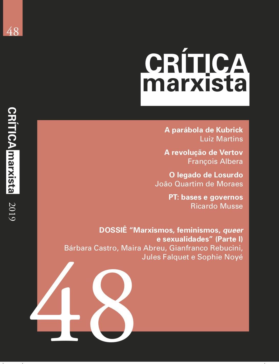 CRITICA MARXISTA - VOL. 48 - A