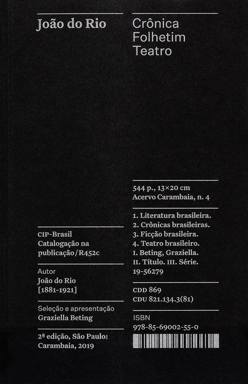 Crônica, Folhetim, Teatro - Coleção Acervo