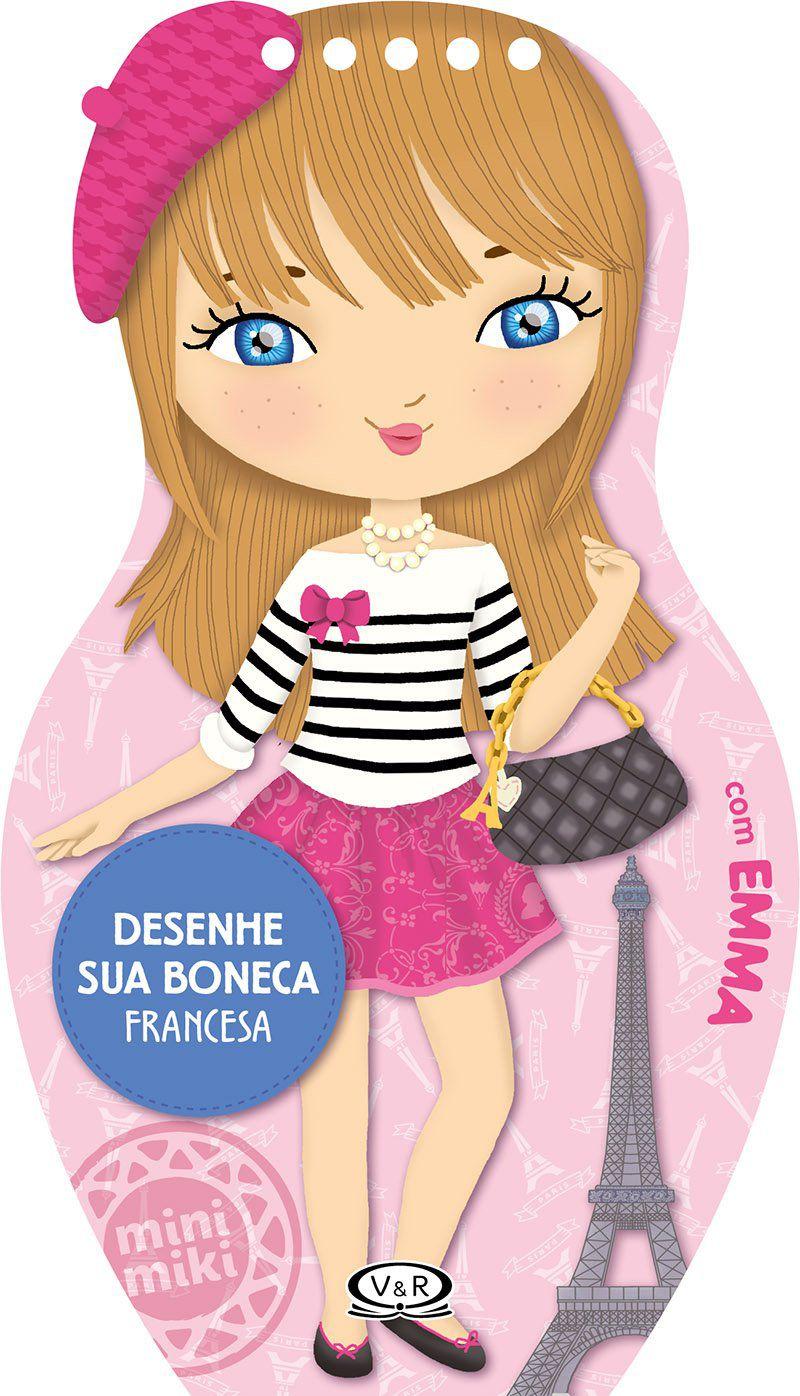 Desenhe sua boneca francesa