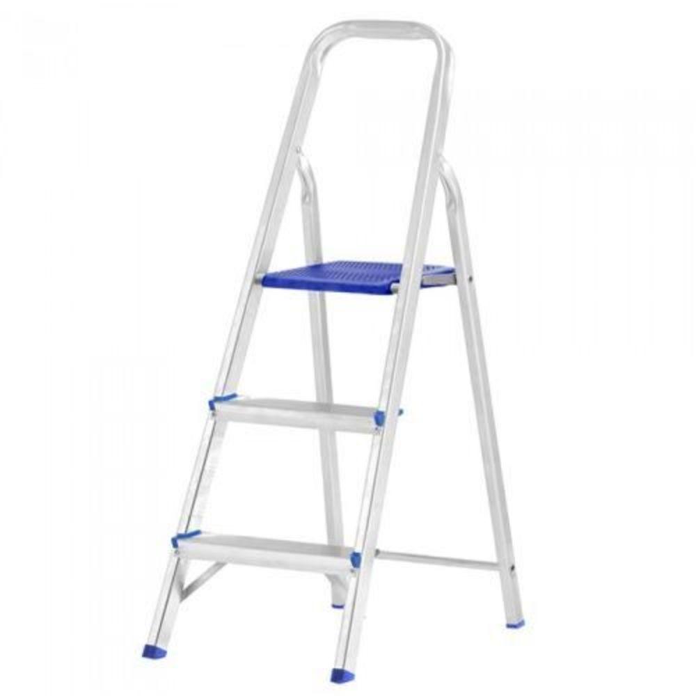Escada Domestica Aluminio 03 Degraus
