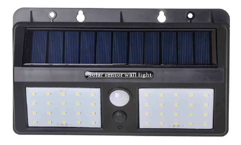 Luminaria Solar C/ Sensor Presenca 8w 6500k 106 Lumens