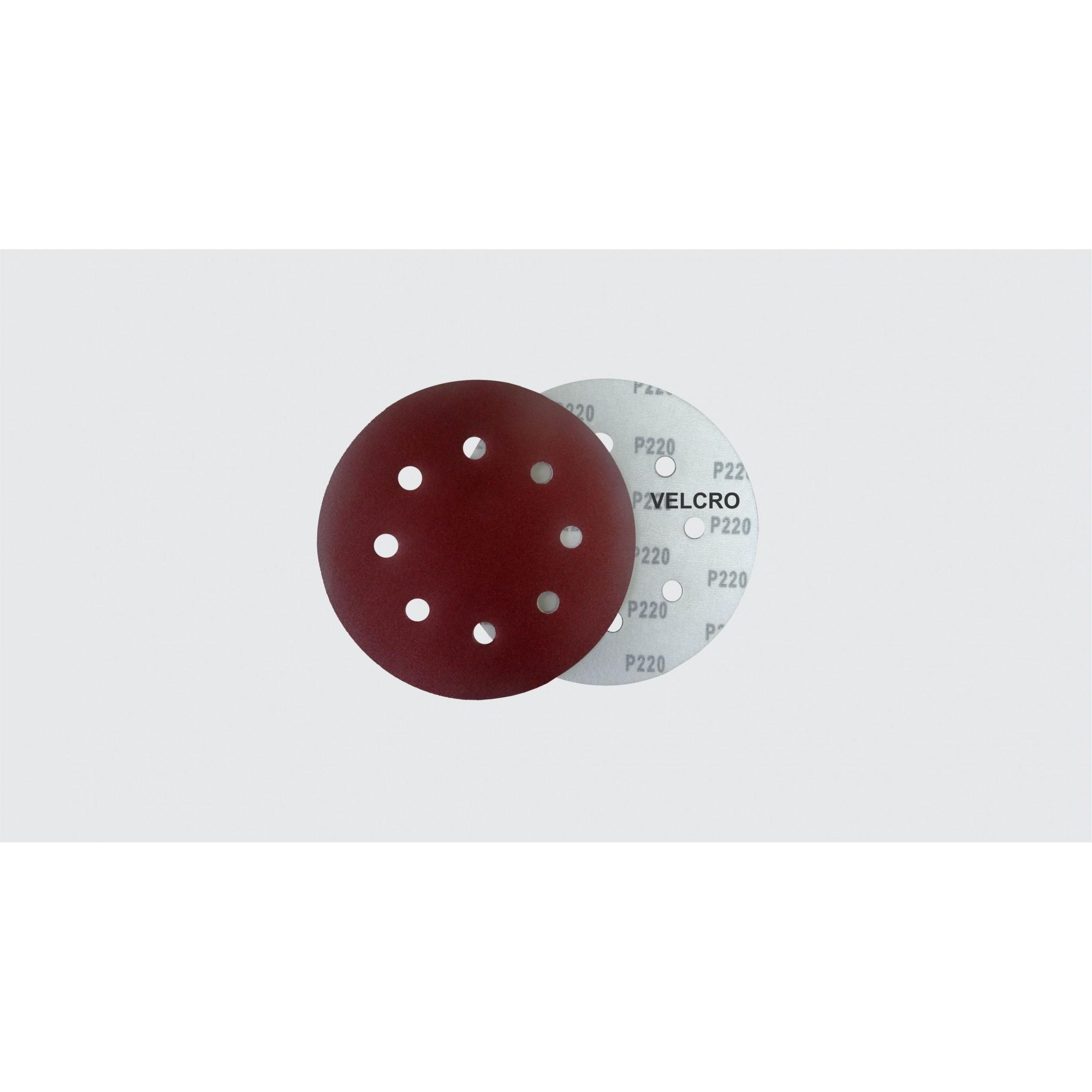 DISCO LIXA VELCRO 180MM 8F. NAUBER G220