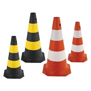 Cone Worker Sinalizacao Pvc 50cm Pt/Am