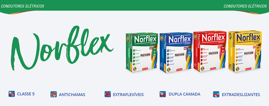 CABO NORCOLA NORFLEX FLEXIVEL 2.5MM 50M BRANCO