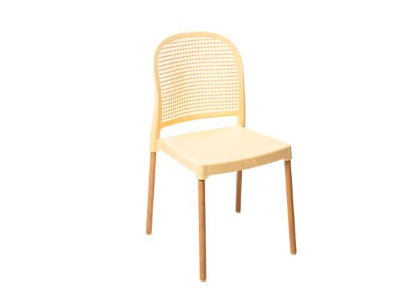 Cadeira Forte Plastico Vintage Creme