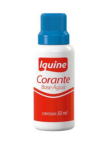 CORANTE IQUINE BASE AGUA 50ML AZUL