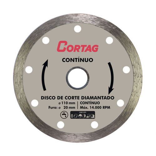 DISCO CORTAG DIAMANTADO 4MM PROFISSIONAL