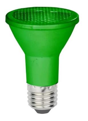 LAMPADA LED ECOFORCE PAR20 6W VERDE IP64