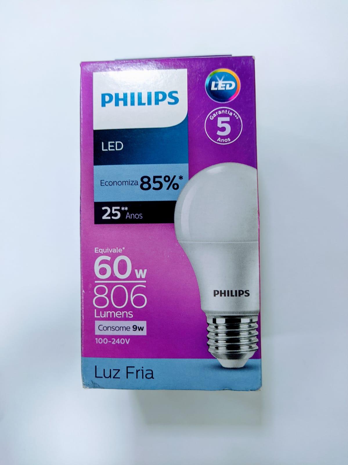 LAMPADA LED PHILIPS BULB 9,0-60W E27 6500K A55