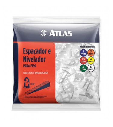 NIVELADOR ATLAS CERAMICA PLAST 5MM AT50/5