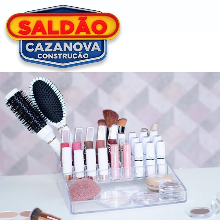Organizador Cosmeticos Dello Plus C/31 Div Cristal
