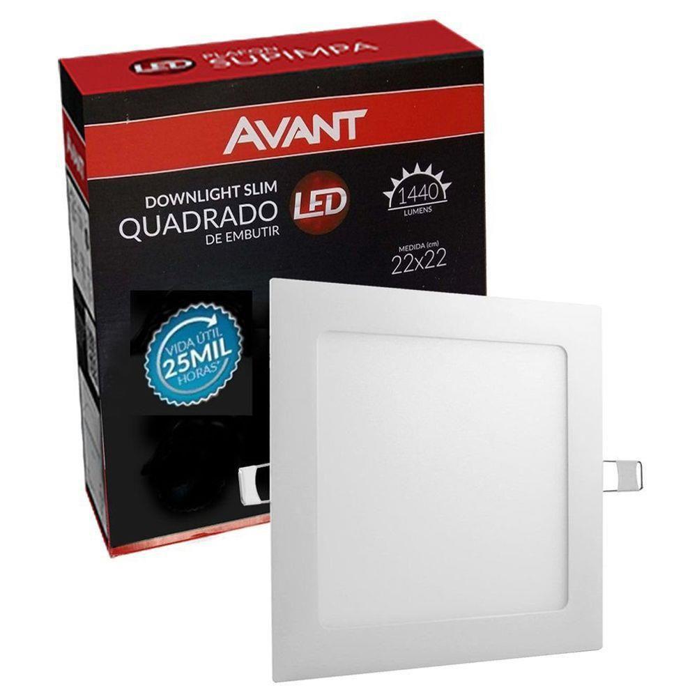 PAINEL LED AVANT POP EMB QD 18W 6500K
