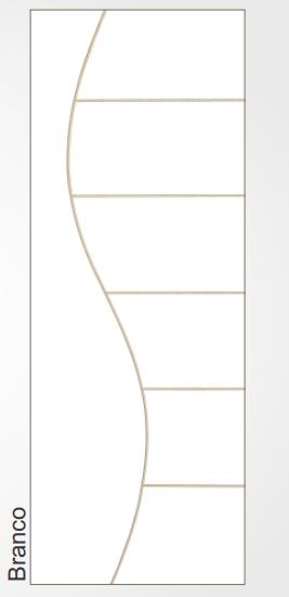 Porta Boa Vista Prensada Hdf Frisada Branca S02 60x210cm