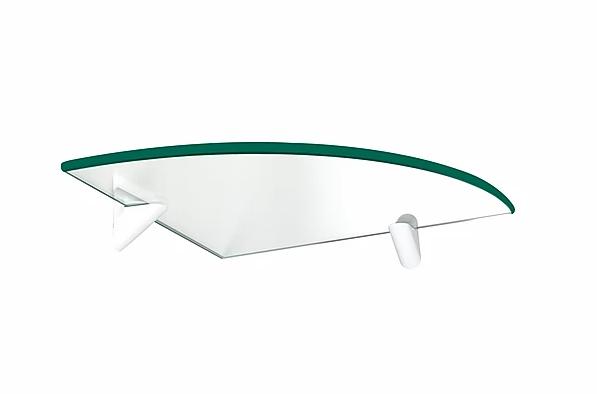 PRATELEIRA PRATEFIX GLASS CANTO RAIO 25X25 C/SUP