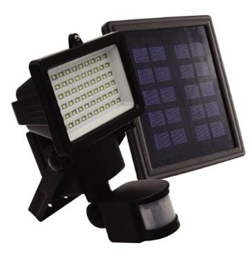 Refletor Ecoforce Solar Compacto C/Sensor Movimento 60 Leds