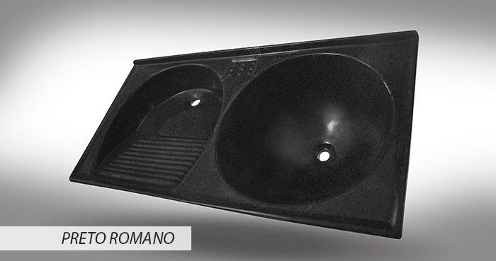 TANQUE BELLA DELTA JR 0.84X0.43 PRETO ROMANO