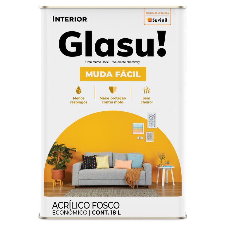 TINTA GLASU ACR MUDA FACIL FOSCO LT AM CANARIO