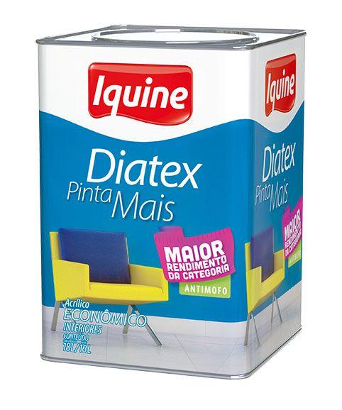 TINTA IQUINE DIATEX PINTA MAIS 15L NEVE