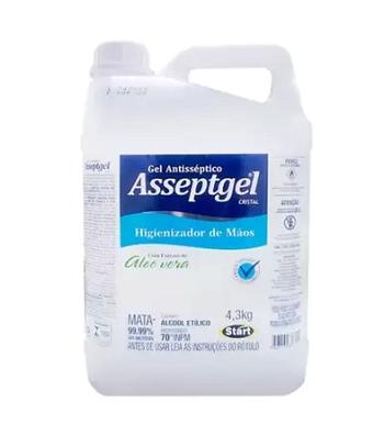 Álcool Em Gel Antisséptico 4,3kg Asseptgel Start - Start Química - 6659