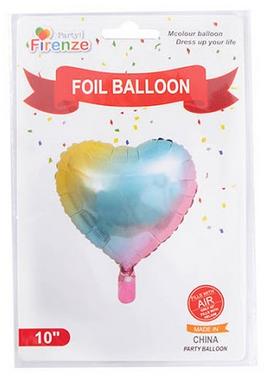 Balão para Festa Coração Colorido