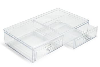Caixa Organizadora Com 2 Gavetas 21,5x12, 5 Cm  3