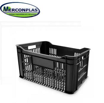 Caixa Para Verdura 42 Litros Preta- MERCONPLAS -8405.