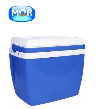 Caixa Térmica 34 Litros Azul Mor-7256