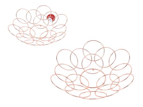 Cesta Aramada Círculos 32 cm Rose
