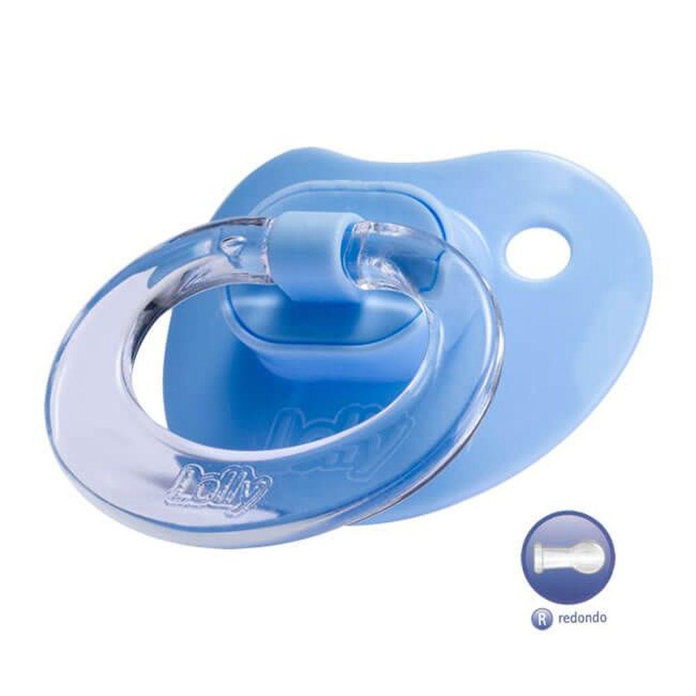 Chupeta Especial Redondo 0 a 6 Meses - Lolly Azul