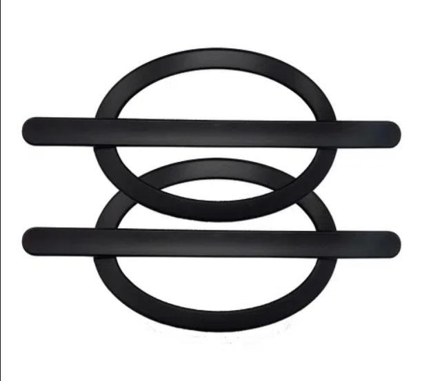 Fivela pp oval (par) preto fosco-5301