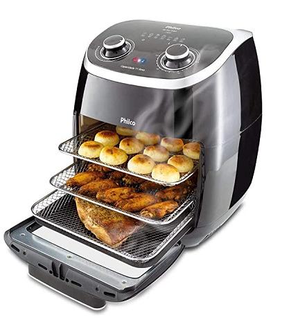 Fritadeira Philco 2 em 1 Air Fry e Forno Oven 11L, 110V – 24650 - Philco